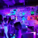 Art night glow in the dark cave